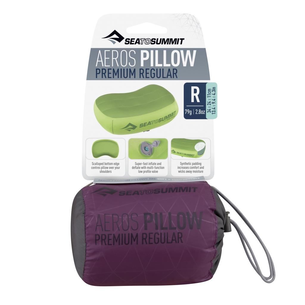 Summit Aeros Premium Pillow, Reg. Magenta