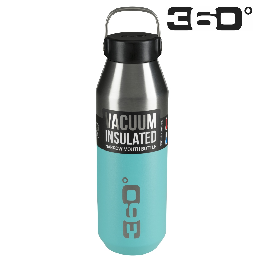 360 Degrees 750ml Insulated NM SS Bottle - Turquoise