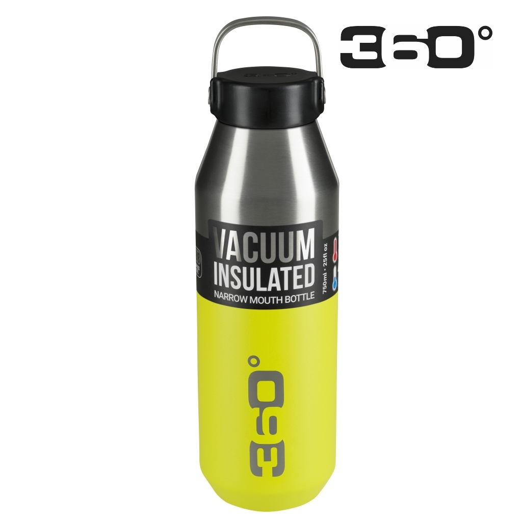360 Degrees 750ml Insulated NM SS Bottle - Lime