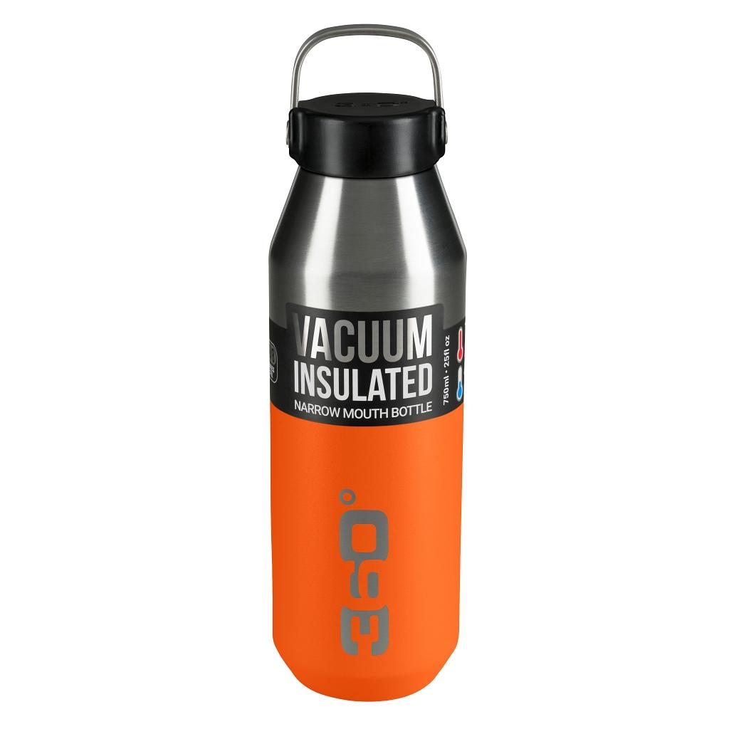 360 Degrees 750ml Insulated NM SS Bottle - Pumpkin