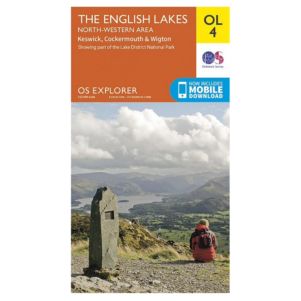 OS Explorer OL4 The English Lakes - North Western area