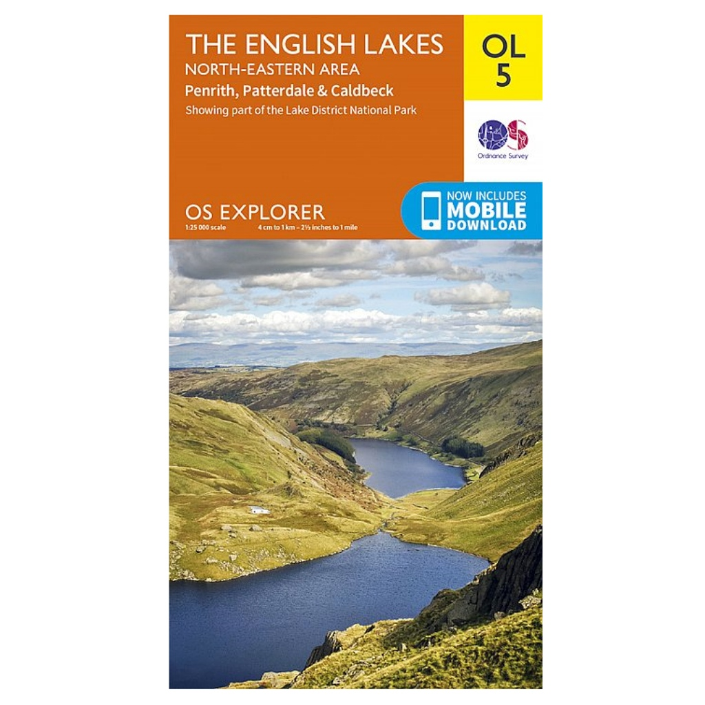 OS Explorer OL5 The English Lakes - North Eastern area