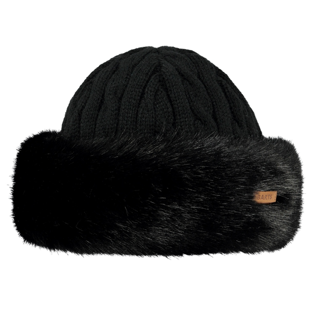 Barts Fur (Faux) Cable Bandhat Womens - Black