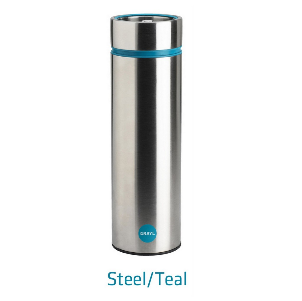 Grayl The Water Filtration Cup Stainless Steel - Steel / Teal SAVE £38