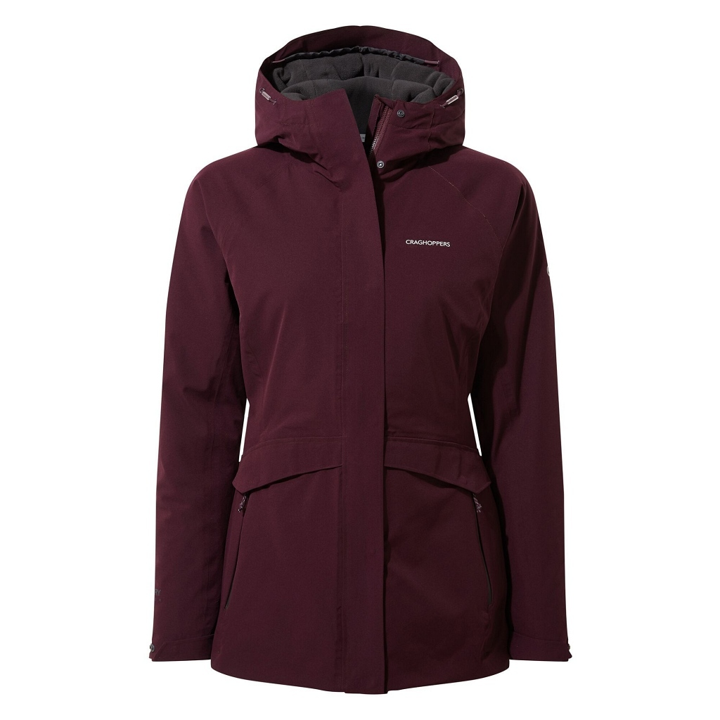 Craghoppers Caldbeck Thermic Waterproof Jacket Womens - Plum