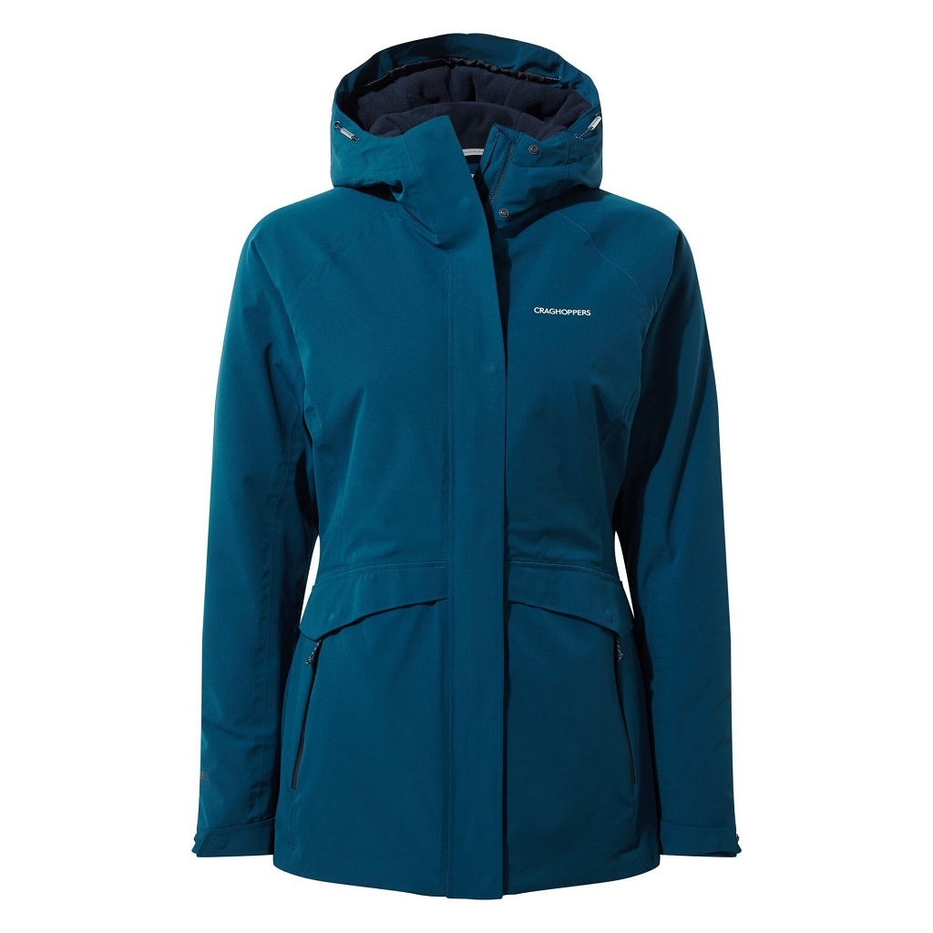 Craghoppers Caldbeck Thermic Waterproof Jacket Womens - Poseidon Blue