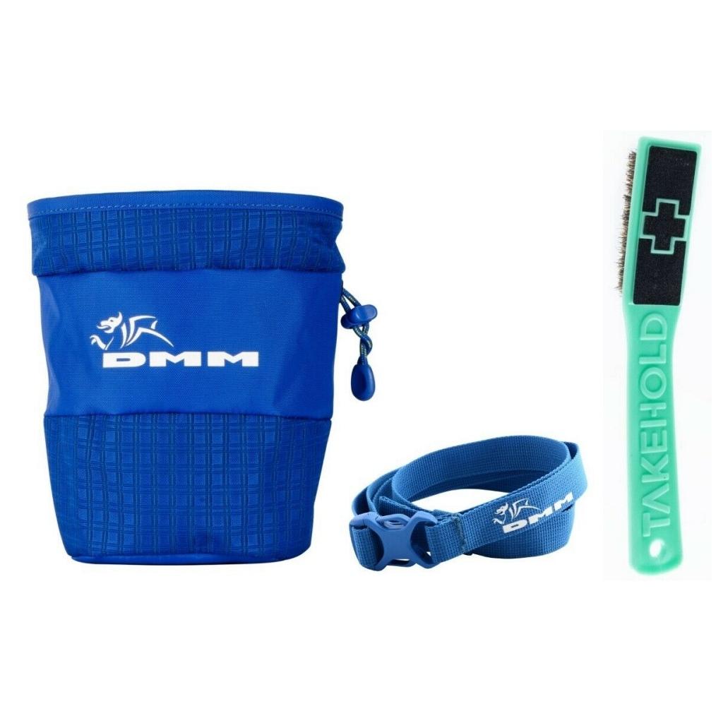 DMM Tube Chalk Bag w/ FREE Chalk Bag Belt  & FREE So iLL Sloper Brush 2.0
