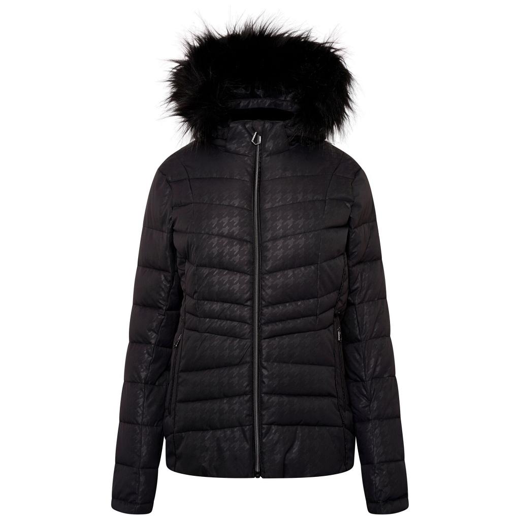 Dare 2b Glamorize II WP Ski Jacket Womens - Black Dogtooth  / Swarovski Embellished
