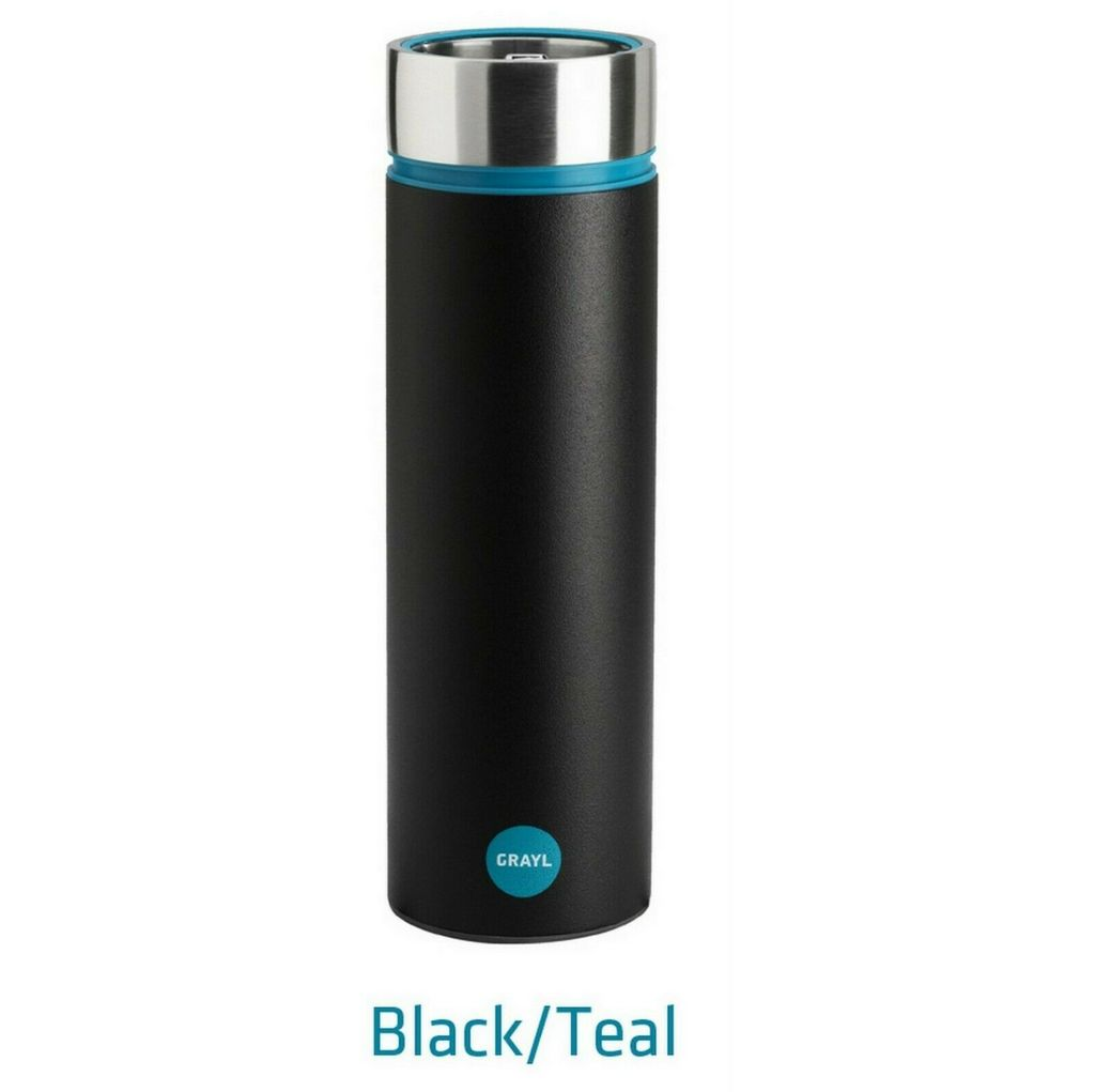 Grayl The Water Filtration Cup Stainless Steel - Black / Grey SAVE £38