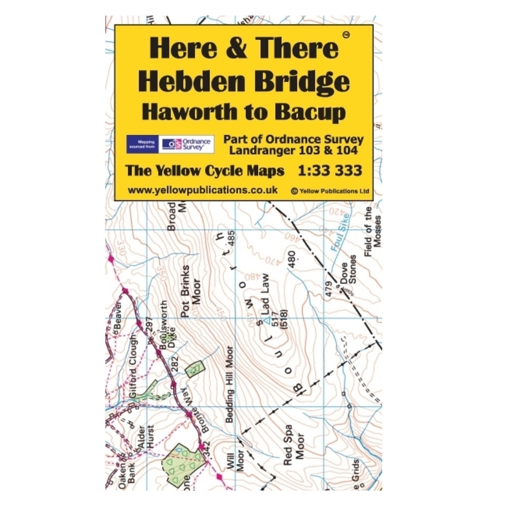 Here & There - Hebden Bridge, Haworth to Bacup Cycle Map