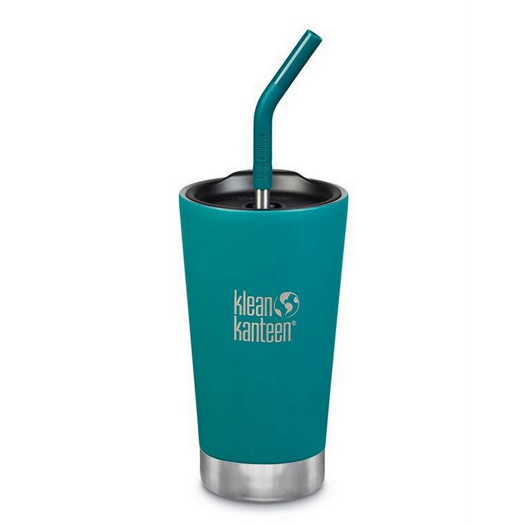Klean Kanteen Vacuum Insulated Tumbler 473ml (16oz) with Steel Straw