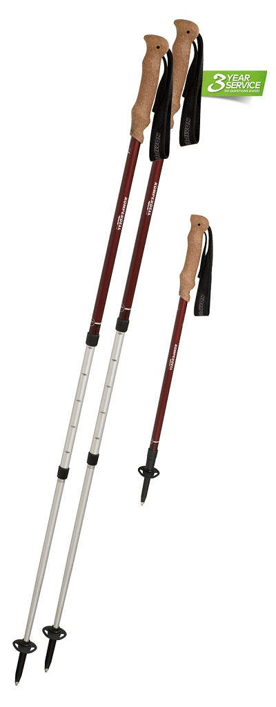 Komperdell Highlander Cork Pair of Poles with Free Pair 8mm Rubber Tips