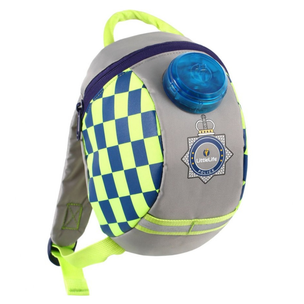 Littlelife Toddler Backpack with Rein - Police Car