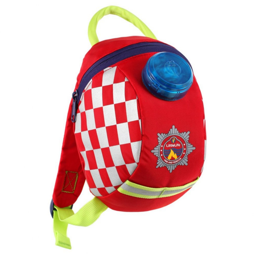Littlelife Toddler Backpack with Rein - Fire Engine