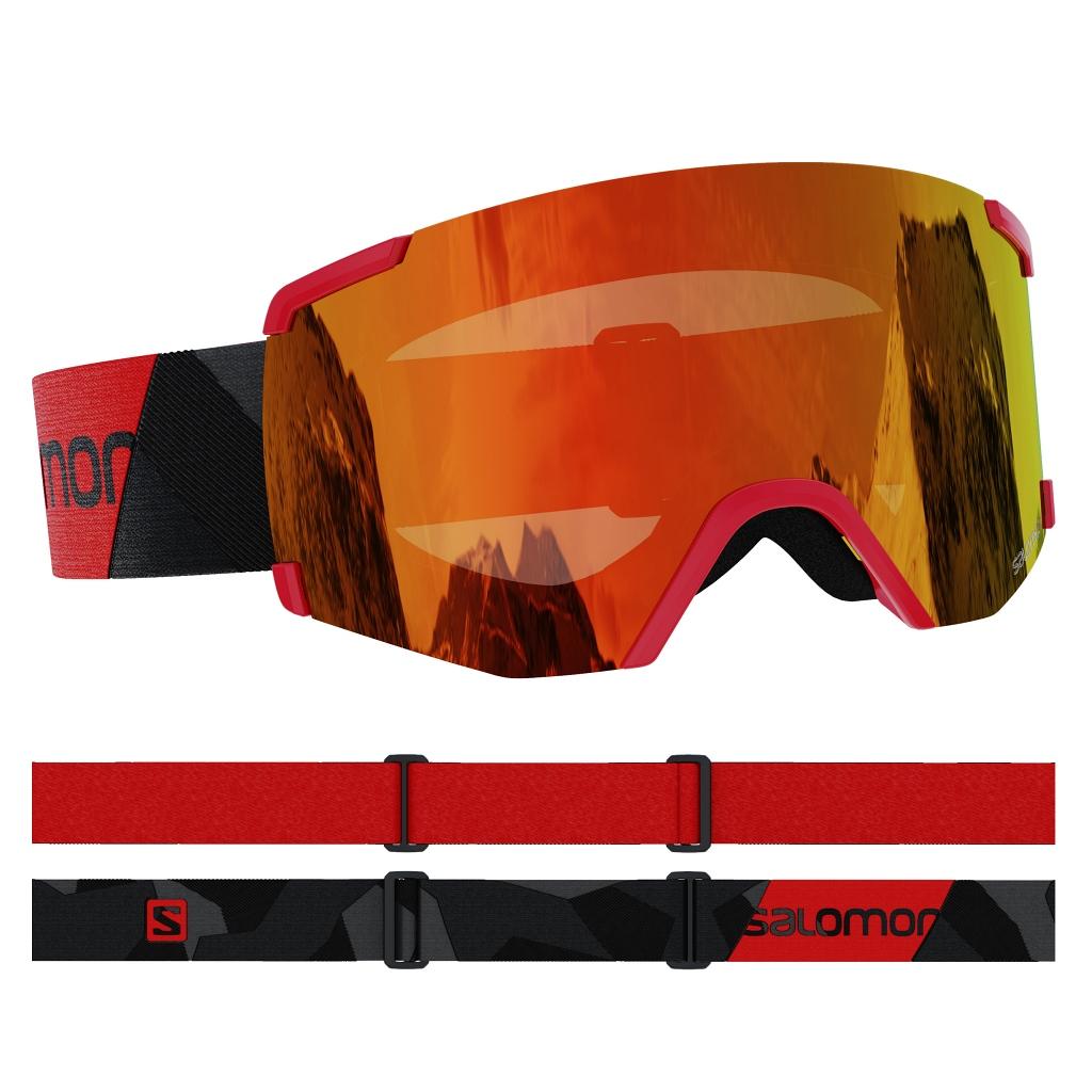 Salomon S View Ski Goggles Unisex - Black / Red