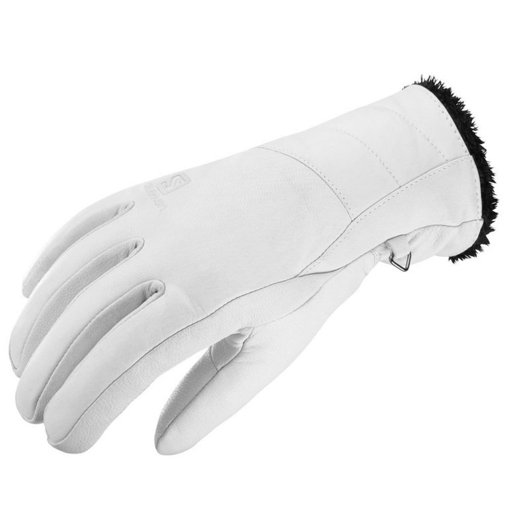 Salomon Native Gloves Leather Womens - White