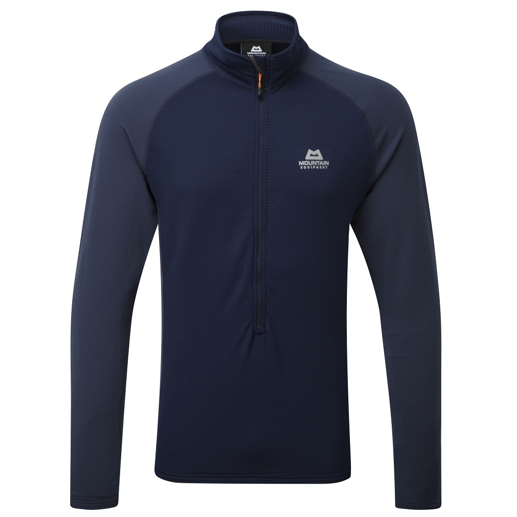 Mountain Equipment Eclipse Zip T Mens - Cosmos BLue