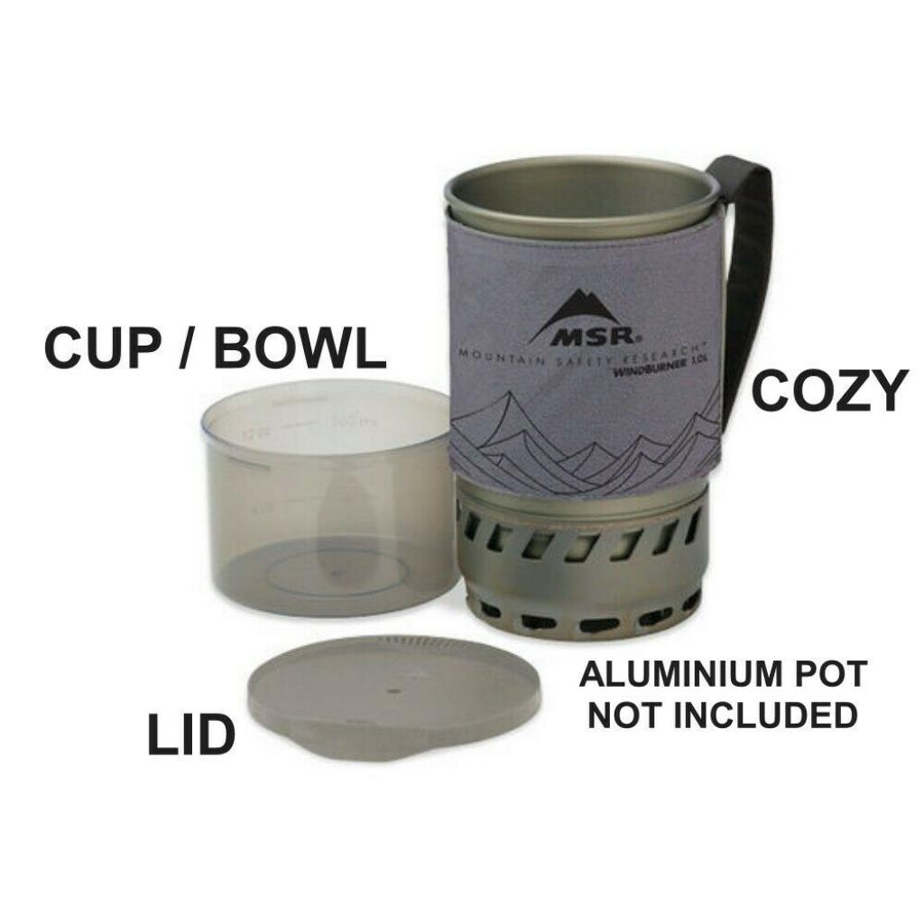 MSR Lid, Cozy & Bowl- fits MSR Windburner 1.0L Stove System