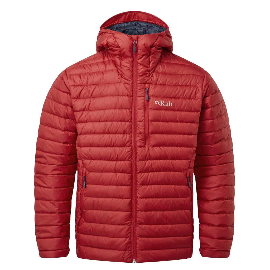Rab Mcrolight Alpine Recycled Down Jacket Mens  AW20/21 - Ascent Red