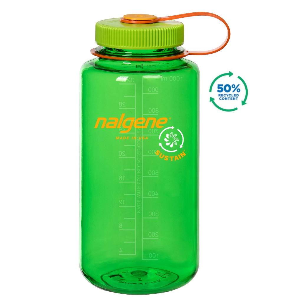 Nalgene 1L Wide Mouth Tritan Sustain Water Bottle - Melon Ball
