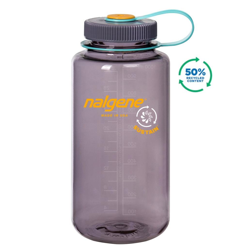 Nalgene 1L Wide Mouth Tritan Sustain Water Bottle - Aubergine