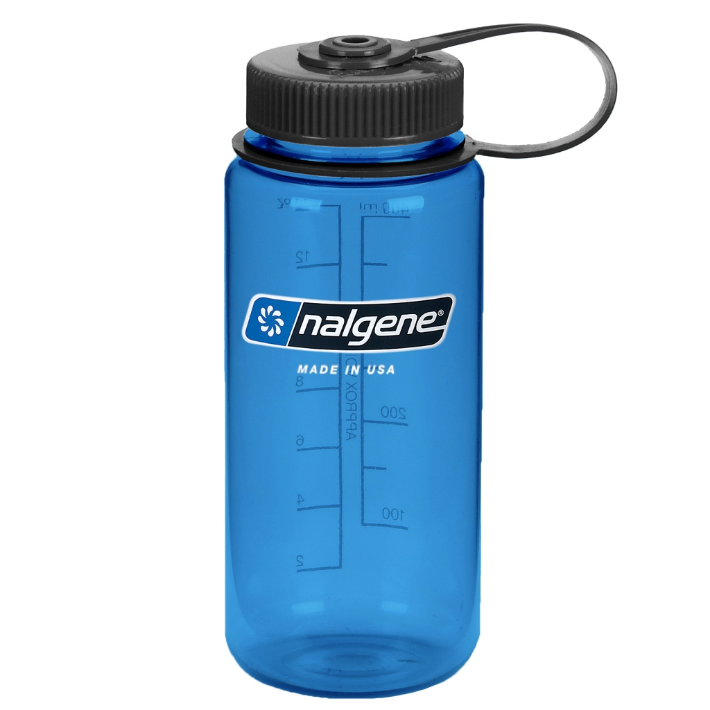 Nalgene 500ml Tritan Wide Mouth Bottle with Loop Cap - Various Colours