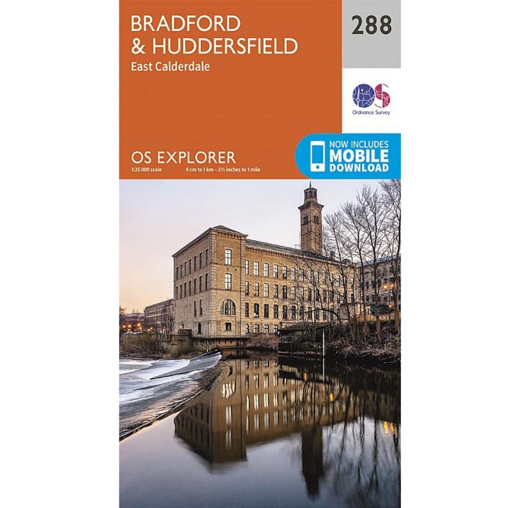 OS Explorer 288 Bradford & Huddersfield
