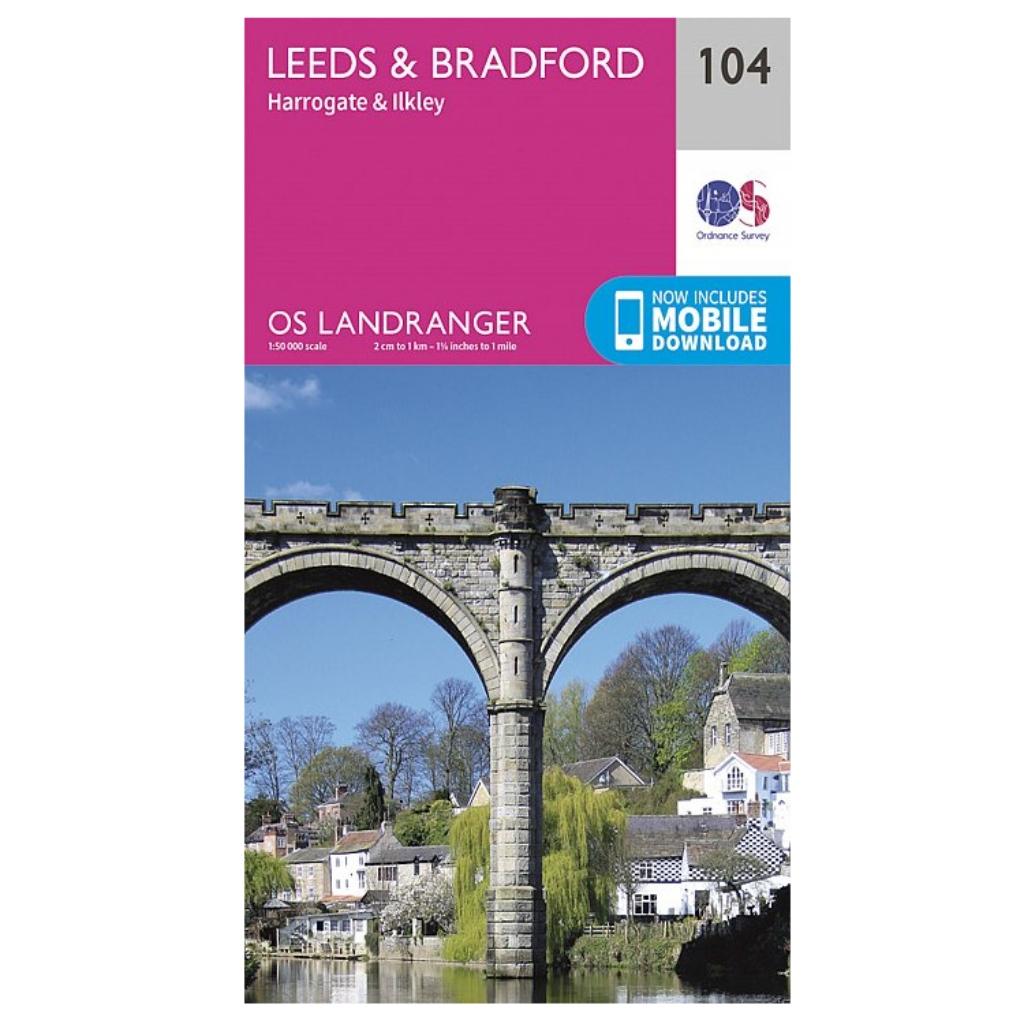 OS Landranger 104 - Leeds & Bradford