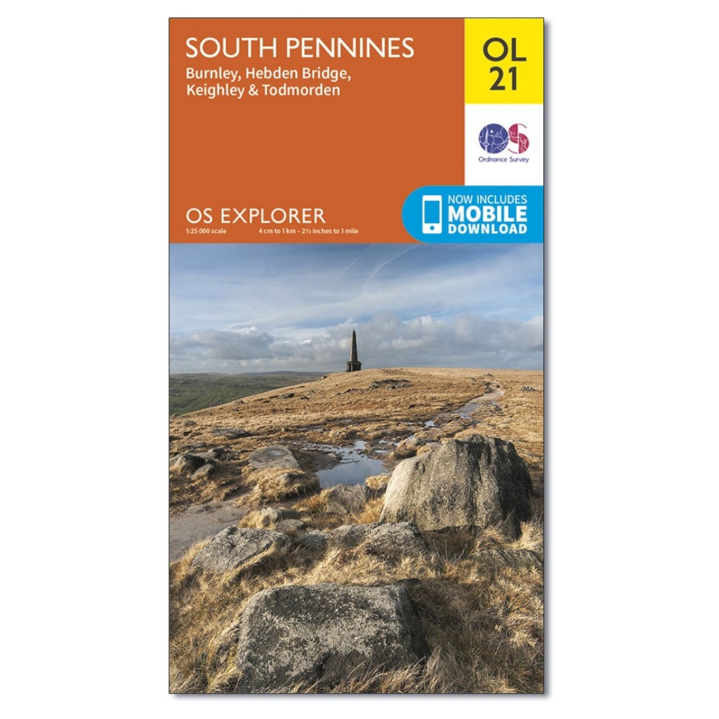 OS Explorer OL21 South Pennines