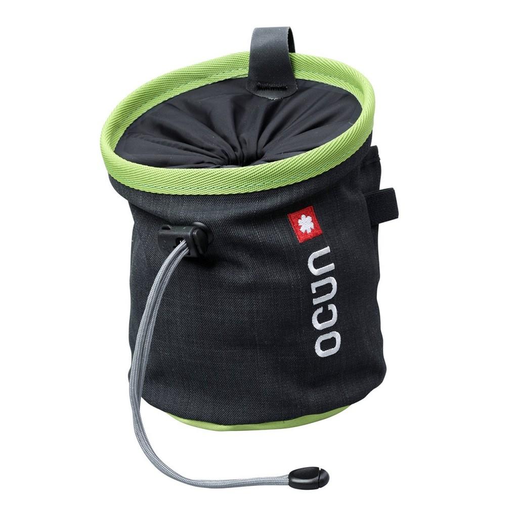 Ocun Push Chalk Bag with Belt ~ Black / Green