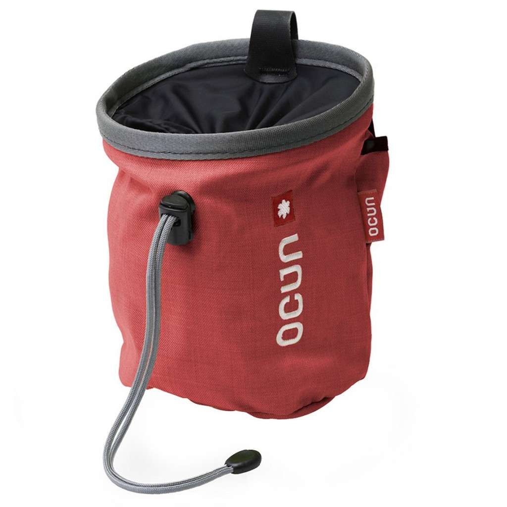 Ocun Push Chalk Bag with Belt ~ Red / Grey