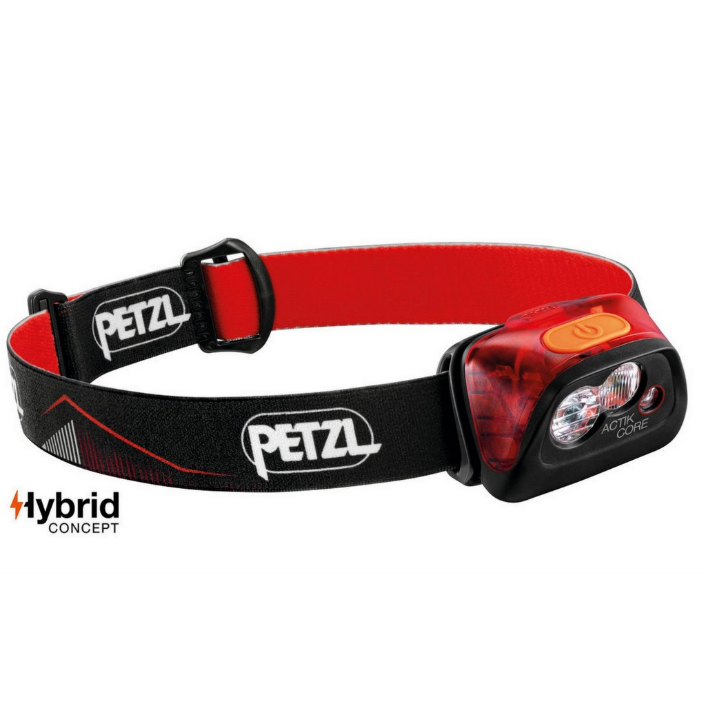 Petzl Actik Core 450 Lumens Rechargeable Headlamp - Red