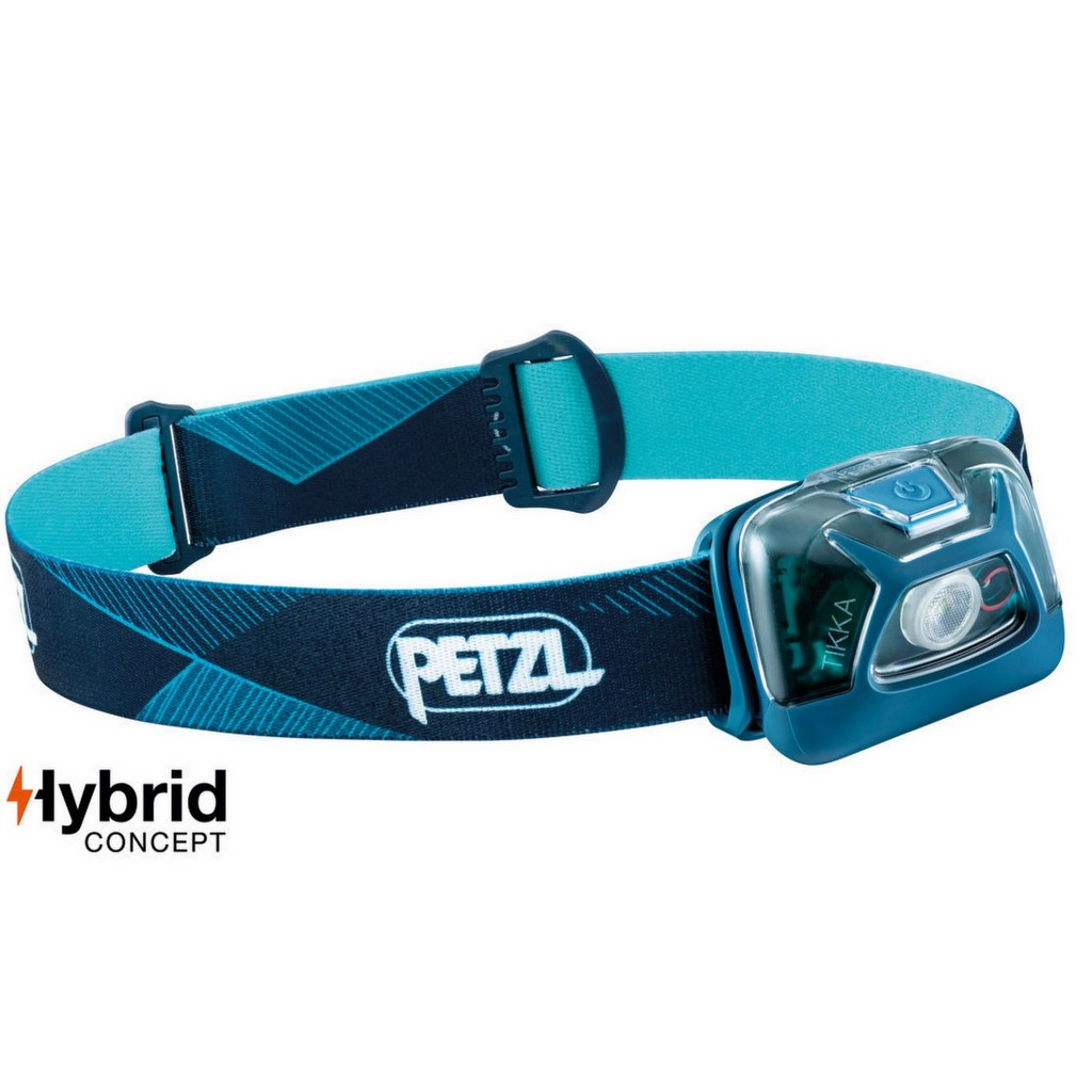 Petzl Tikka 300 Lumens Hybrid Headlamp - Blue
