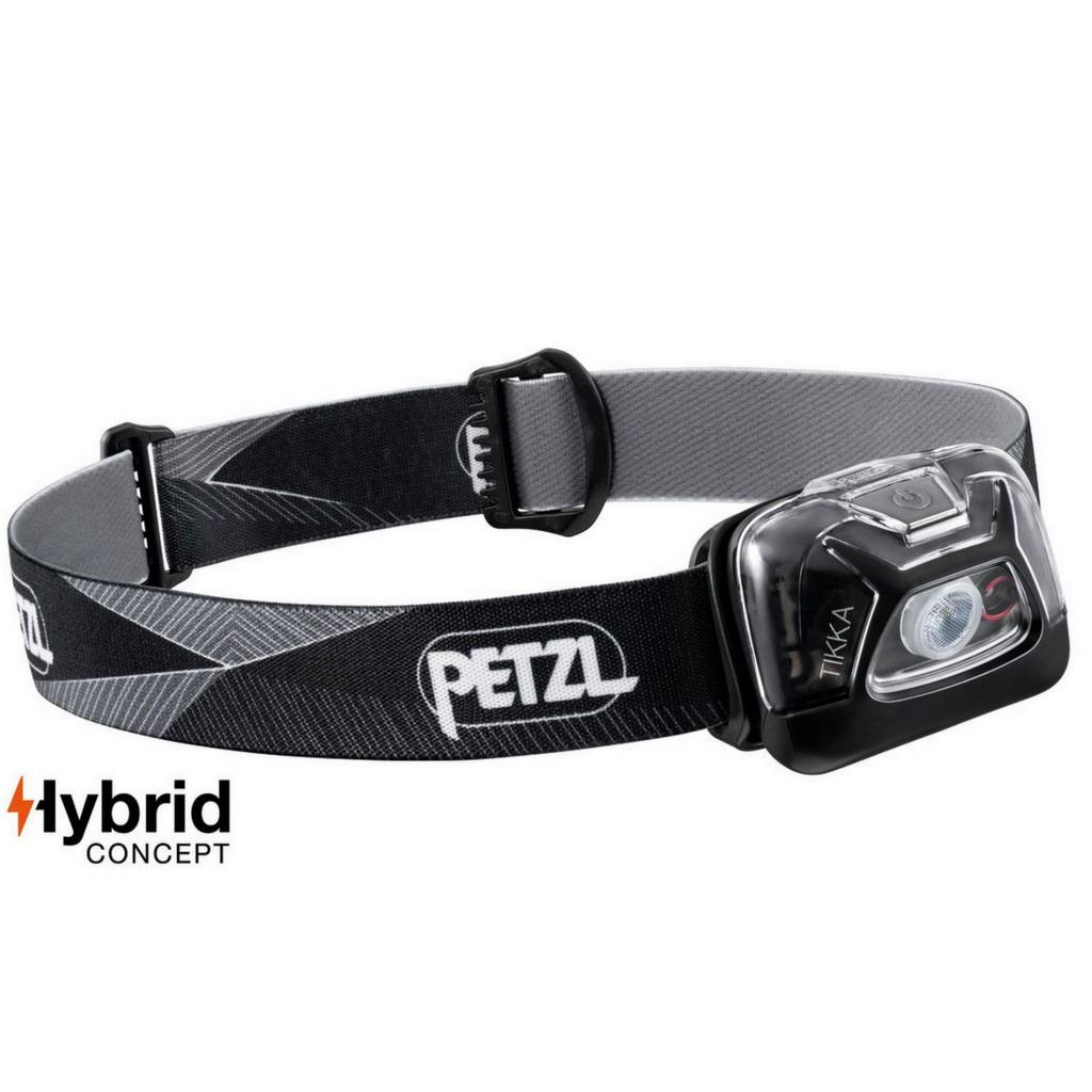Petzl Tikka 300 Lumens Hybrid Headlamp - Black