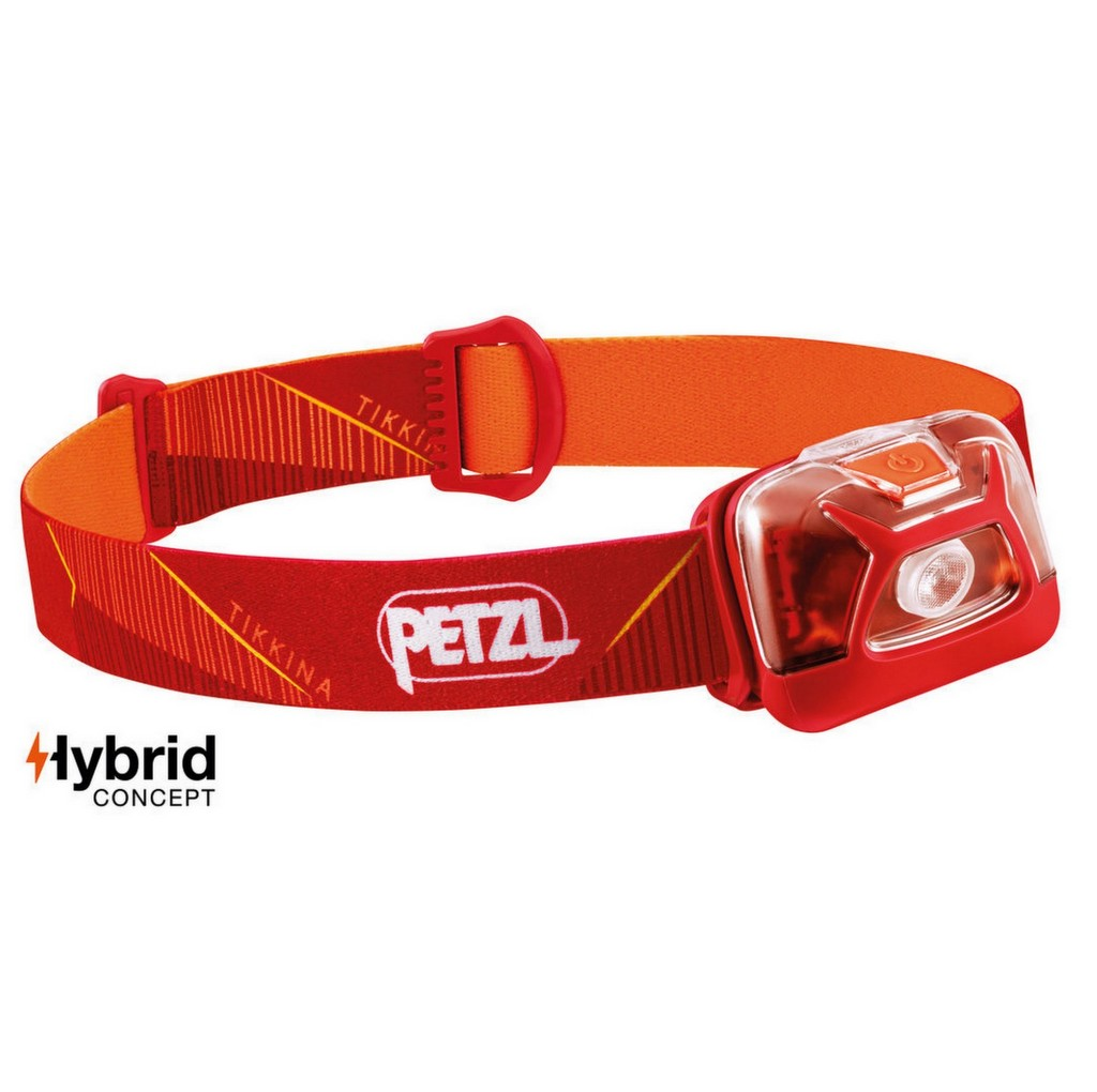 Petzl Tikkina 250 Lumens Hybrid Headlamp - Red