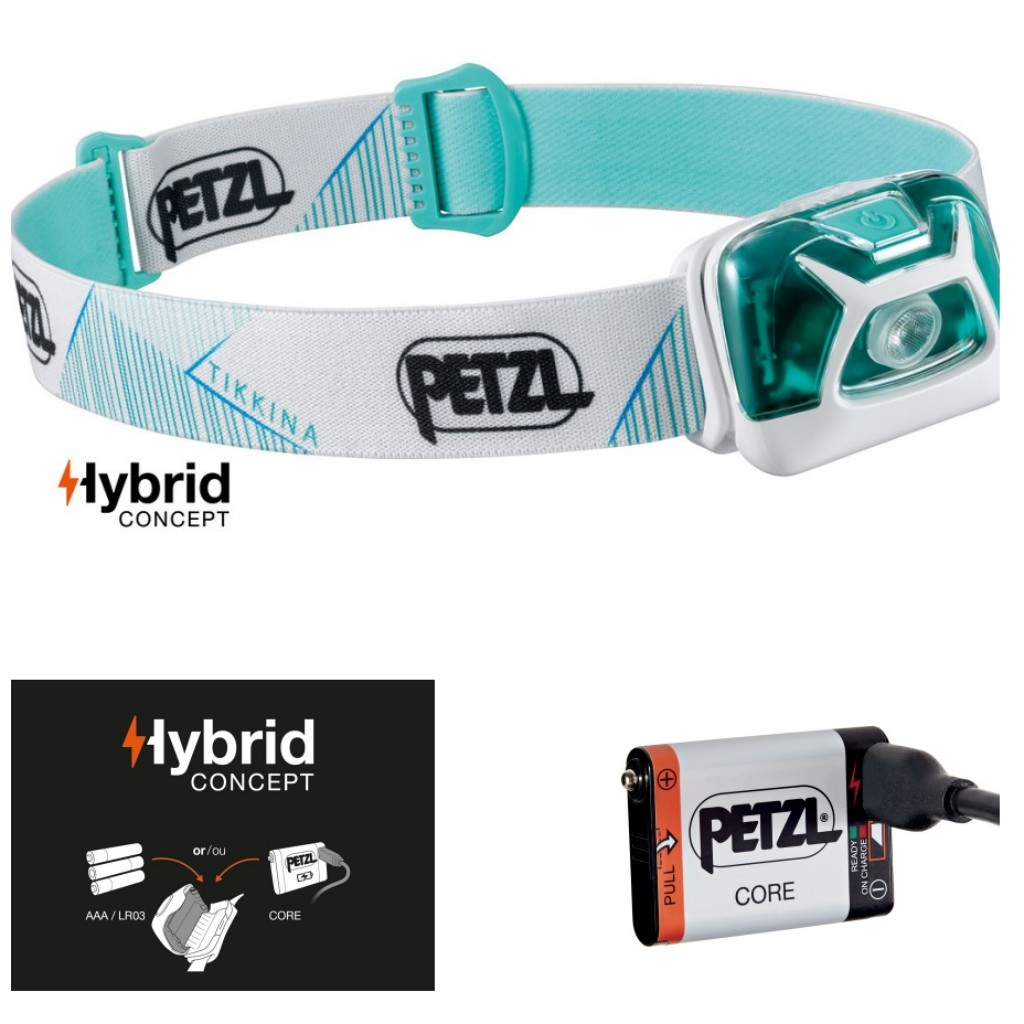 Petzl Tikkina 250 Lumens Headlamp White & Core Battery