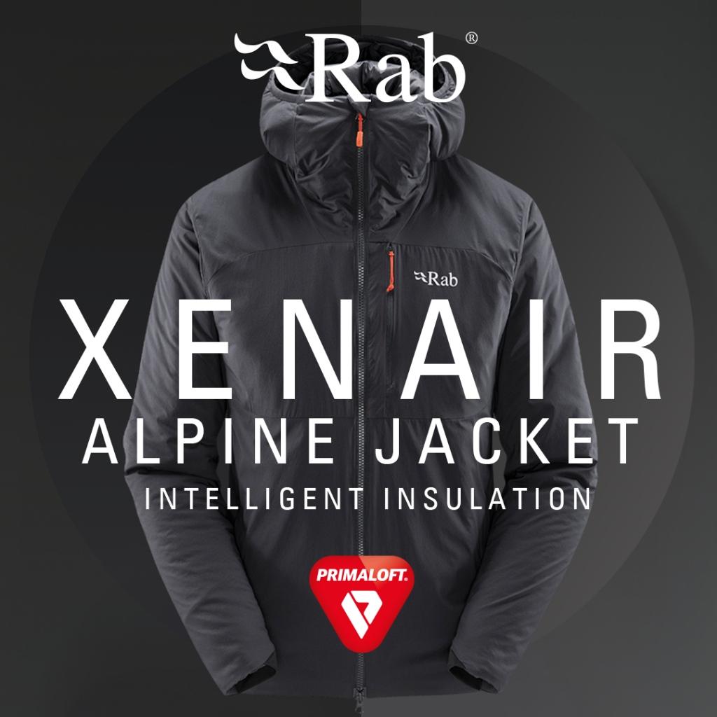 Rab Xenair Alpine Synthetic Insulated Jacket Mens - Ebony AW21/22