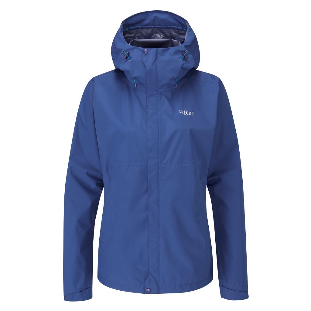 Rab Downpour Eco Jacket Womens - Nightfall Blue