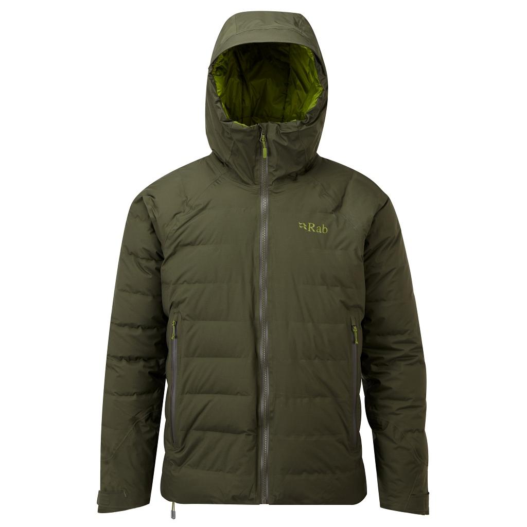 Rab Valiance Down Waterproof Jacket Mens - Army AW21/22