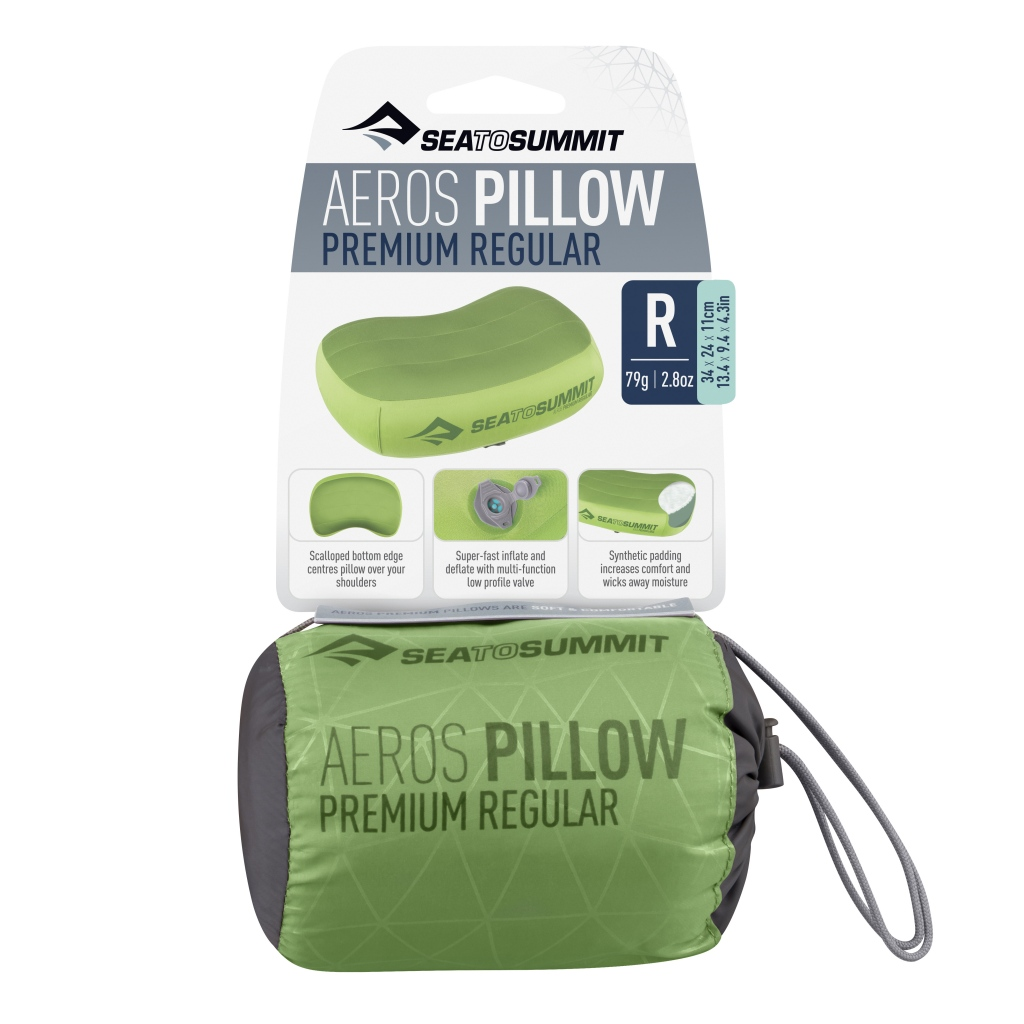 Sea to Summit Aeros Premium Pillow Regular Lime