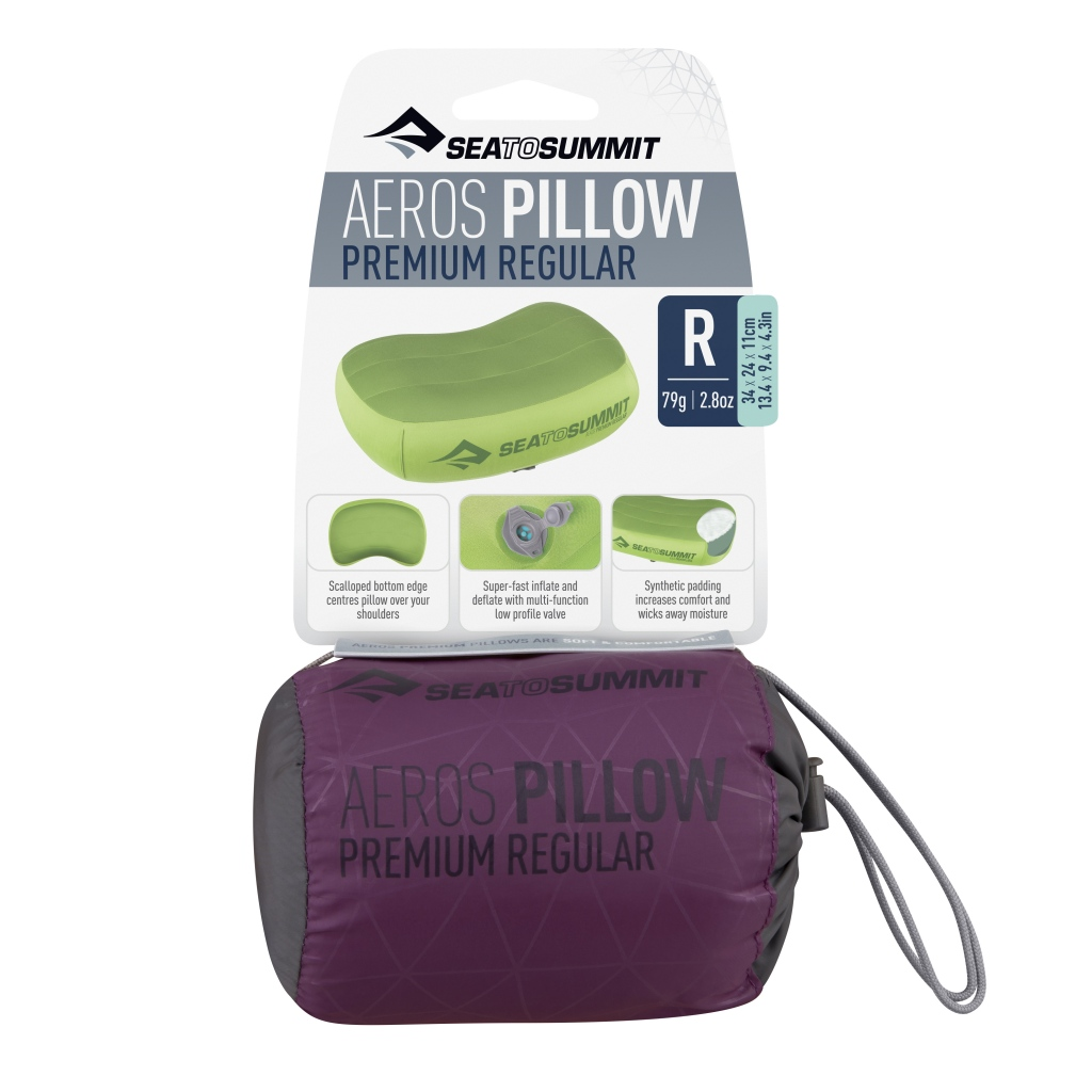 Sea to Summit Aeros Premium Pillow Regular Magenta