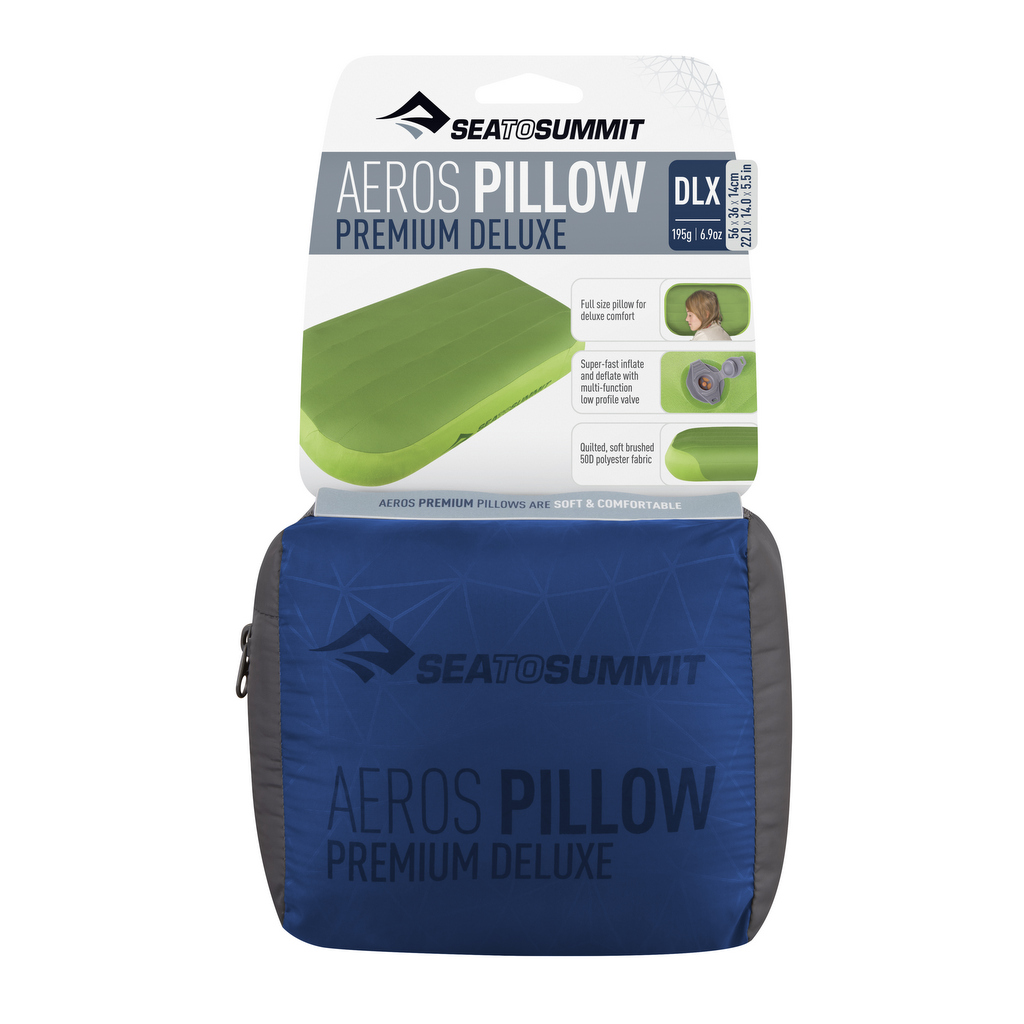 Sea to Summit Aeros Premium Pillow Deluxe Navy