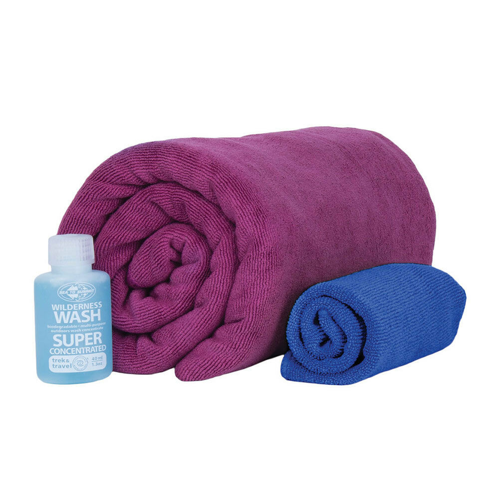 Sea to Summit Tek Towel Wash Kit - L