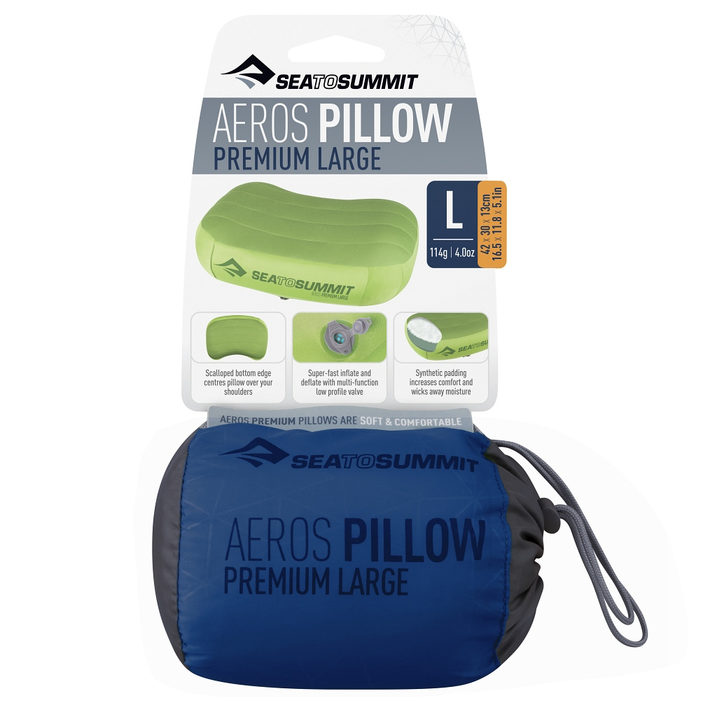 Sea to Summit Aeros Premium Pillow Large Navy