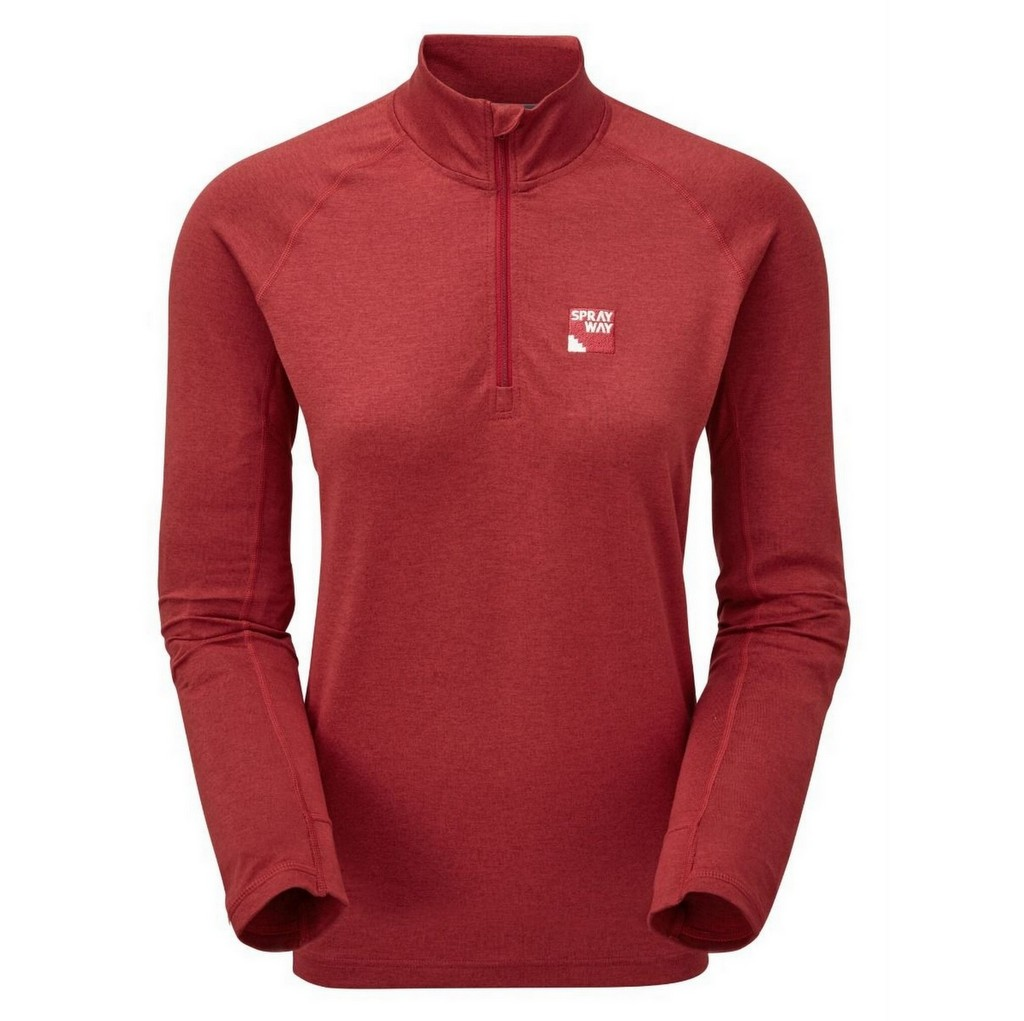 Sprayway Rissa Half Zip CoreC Fleece Womens - Carnival