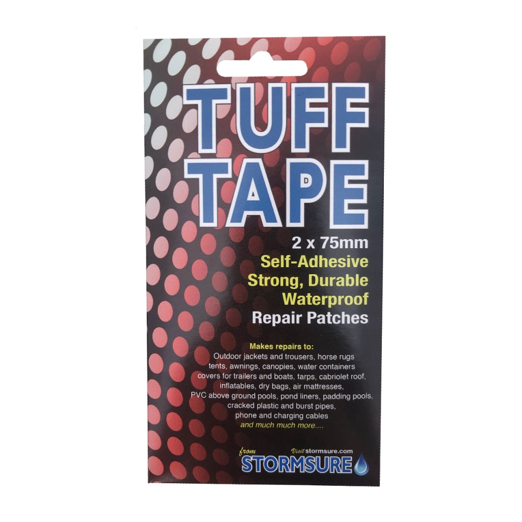 Stormsure Tuff Repair Tape 2x 75mm Patches