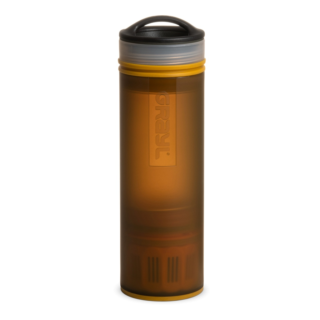Grayl Ultralight Compact Water Purifier Bottle - Coyote Amber