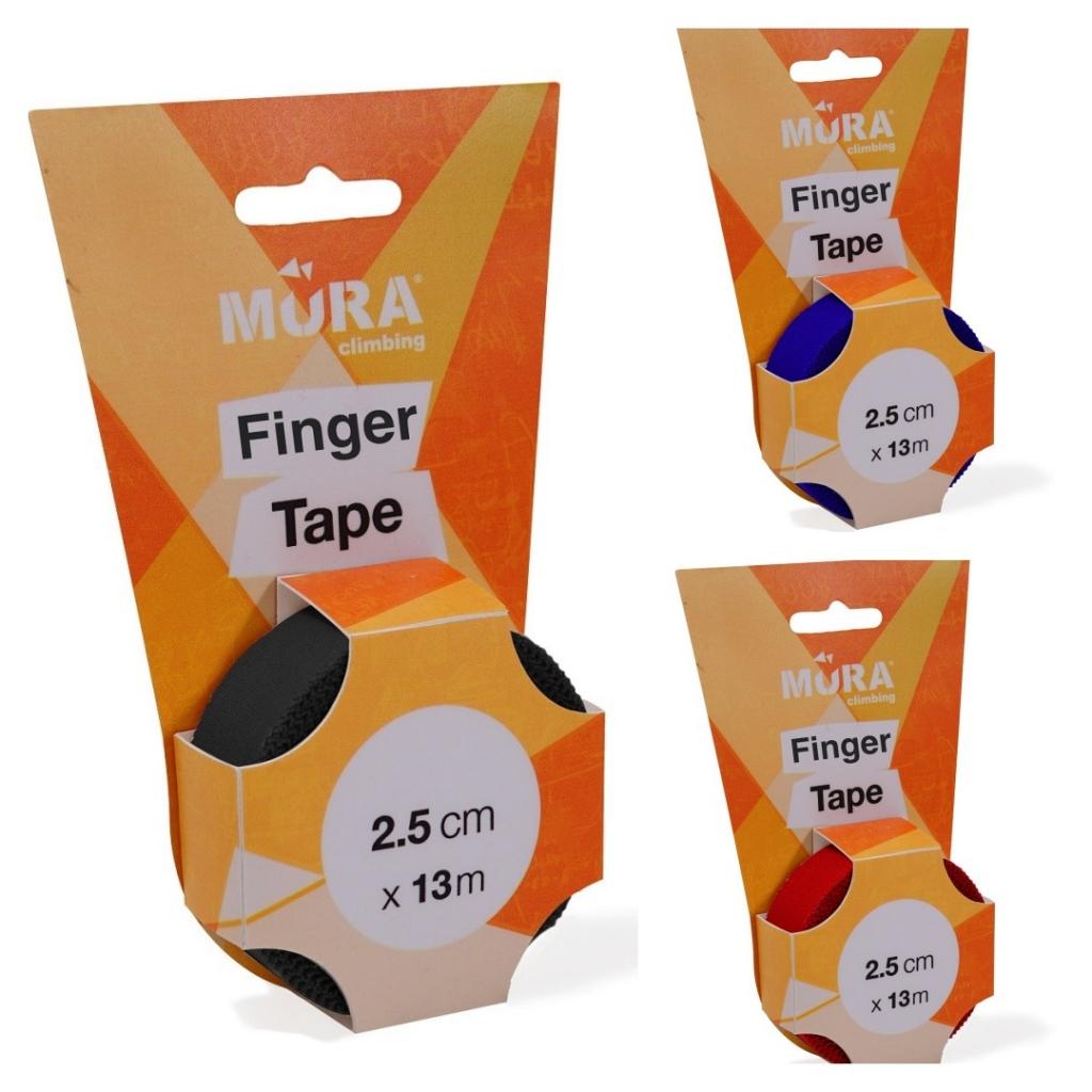 Mura Climbing Finger Tape 2.5cm x 13m - Black, Blue,  Red