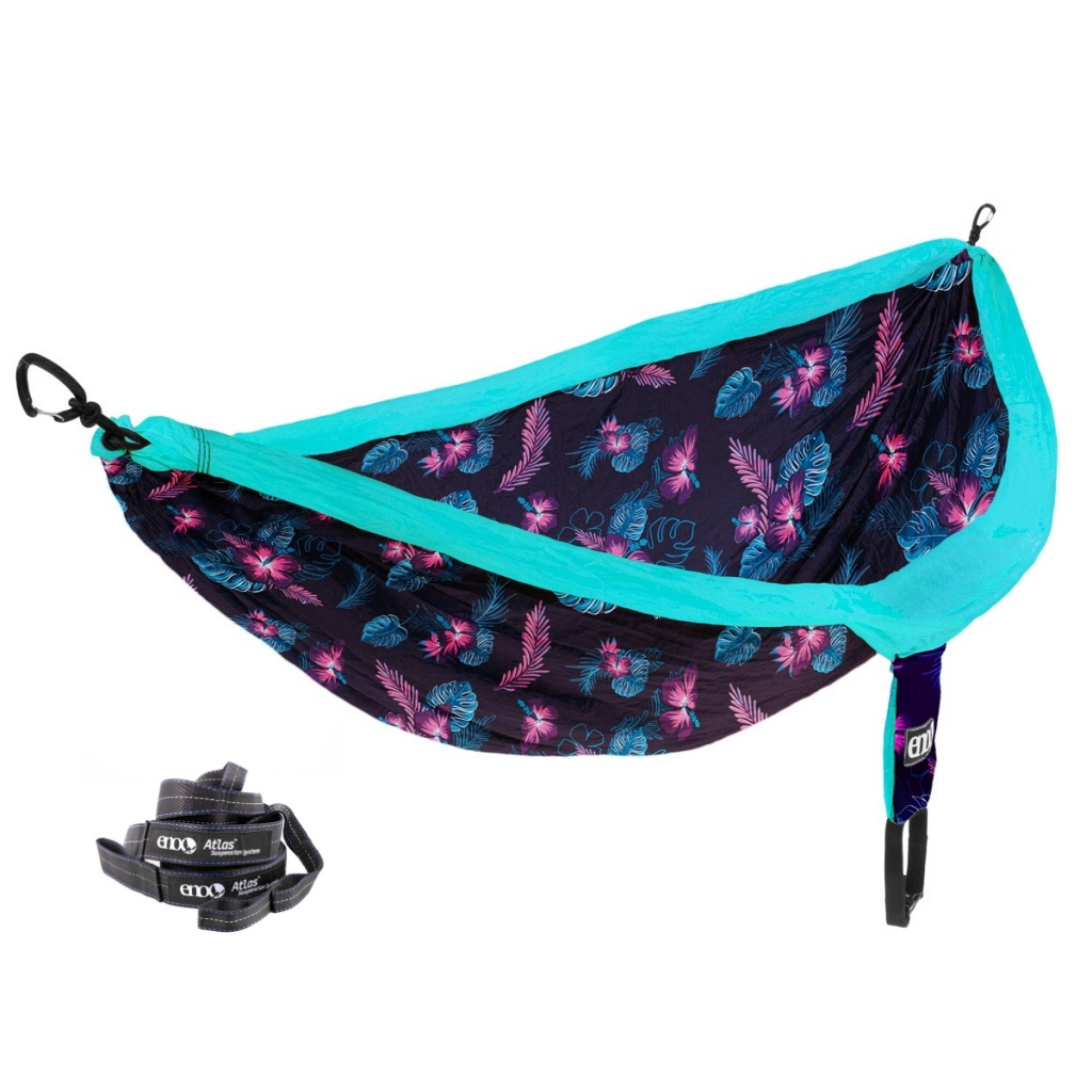 Eno DoubleNest Print Hammock AND Free Atlas Suspension System Straps worth £25