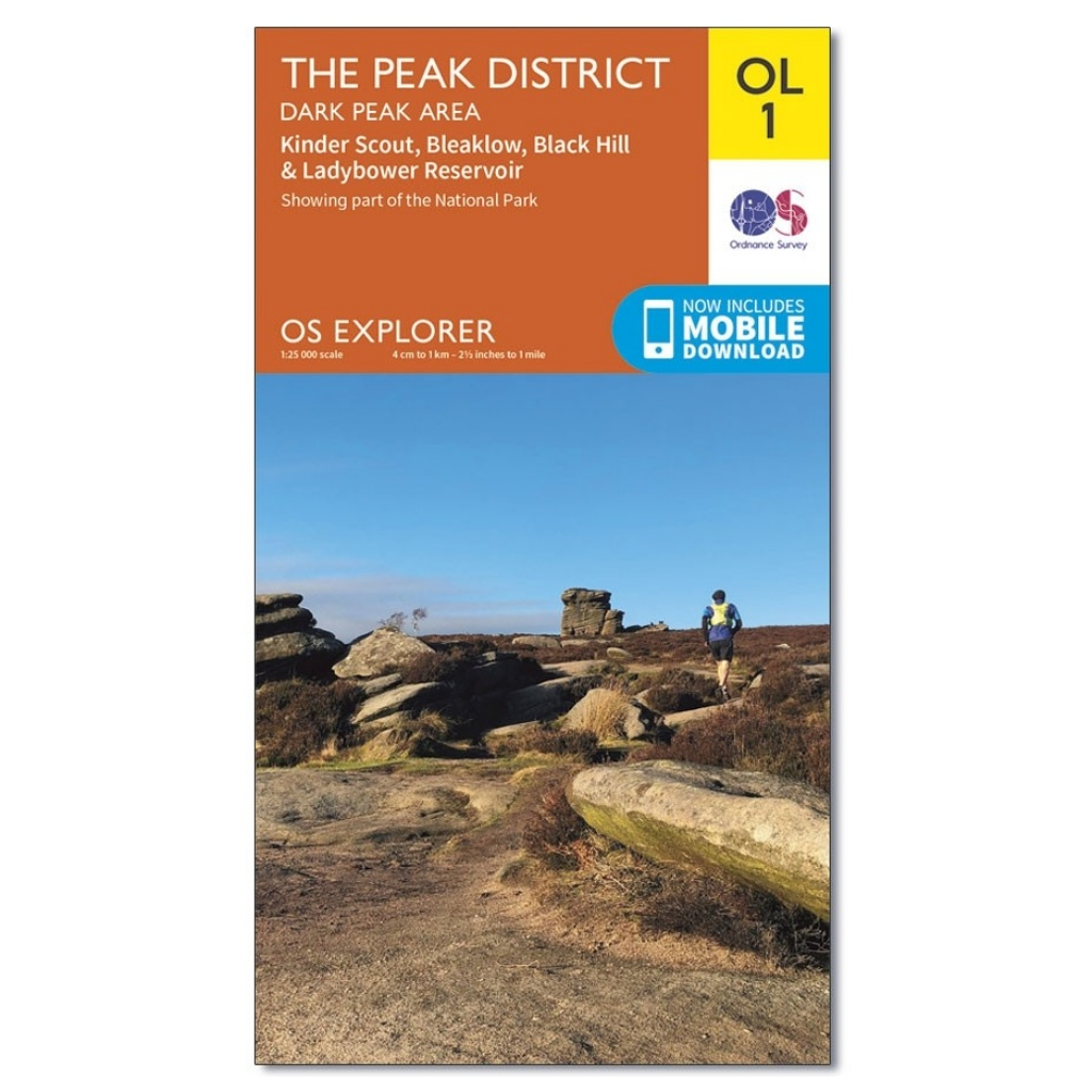 OS Explorer OL1 The Peak District - Dark Peak area